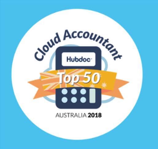 Hubdoc Top50 2018 AU logo